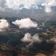 Flying Over Spanish Land Iv Poster
