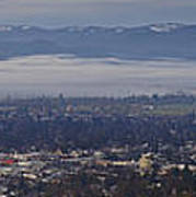Fog Over A Grants Pass Morning Poster