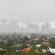 Foggy Fort Lauderdale Florida Poster