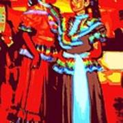 Folklorico Dancers Poster by Randall Weidner