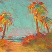 Folly Beach Surfs Up Poster