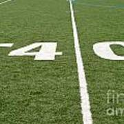 Football Field Forty Poster