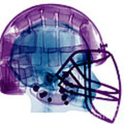 Football Helmet X-ray Poster
