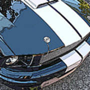 Ford Shelby Gt Nose Study Poster by Samuel Sheats