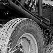 Ford Tractor Details In Black And White Poster