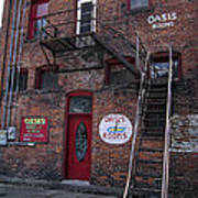 Former Oasis Bordello In Wallace Idaho Mining Town Poster