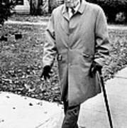 Former President Harry Truman Walks Poster by Everett