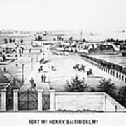 Fort Mchenry, 1862 Poster