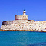 Fort Saint Nicholas In Rhodes. Greece. Poster