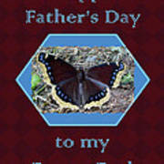 Foster Dad Father's Day Card - Mourning Cloak Butterfly Poster