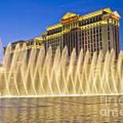 Fountains Of Bellagio In Front Of Caesar's Palace Hotel And Casi Poster
