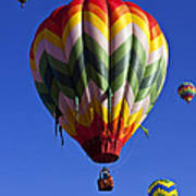 Four Hot Air Balloons Poster