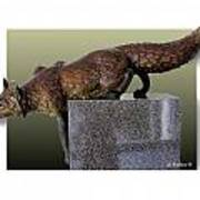 Fox On A Pedestal Poster