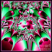 Fractal 12 Candycane Jester Poster