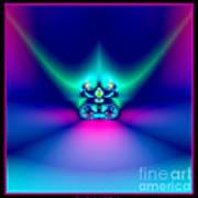 Fractal 9 Crown Poster