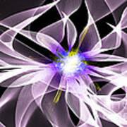 Fractal Flower . Dahlia Poster