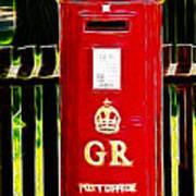 Fractalius Pillar Box Poster