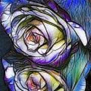 Fractalius Rose Reflection Poster
