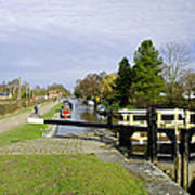 Fradley Middle Lock No. 18 Poster by Rod Johnson