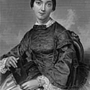 Frances Sargent Osgood (1811-1850). American Poet. Engraving From A Painting By Alonzo Chappel, C1873 Poster