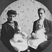 Franklin D. Roosevelt And Young Wife Poster by Everett