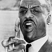 Fred Shuttlesworth, Points A Finger Poster by Everett