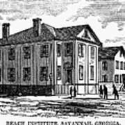 Freedmen School, 1868 Poster