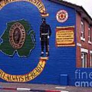 Freedom Corner Mural Belfast Northern Ireland Poster