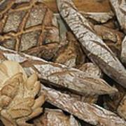 French Breads At A Bazaar In Provence Poster