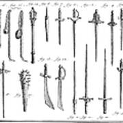 French Chivalric Weapons Poster by Granger