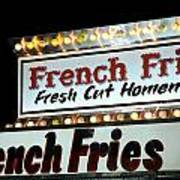 French Fries Sign Poster