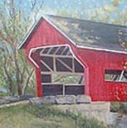 French Lick Covered Bridge Poster