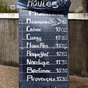 French Mussels Poster