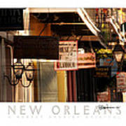 French Quarter Signs Poster