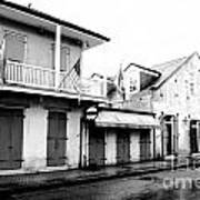 French Quarter Tavern Architecture New Orleans Conte Crayon Digital Art Poster