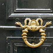 French Snake Doorknocker Poster