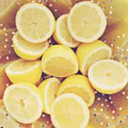 Fresh Lemons Poster