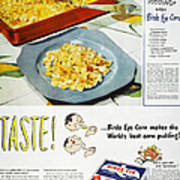 Frozen Food Ad, 1947 Poster