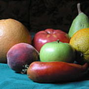 Fruit On The Porch Poster