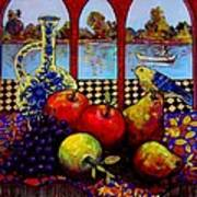 Fruits And River Poster