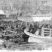 Fulton Ferry Boat, 1868 Poster
