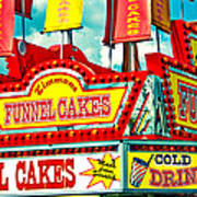 Funnel Cakes Carnival Food Vendor Poster