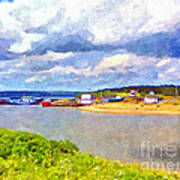 Gabarus Cape Breton Nova Scotia Fishing Village Poster