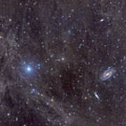 Galaxies M81 And M82 As Seen Poster by John Davis