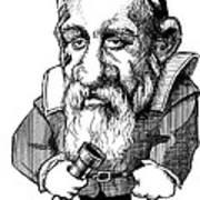 Galileo Galilei, Caricature Poster