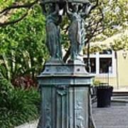 Garden Statuary In The French Quarter Poster