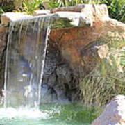 Garden Waterfall Poster