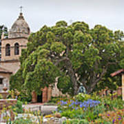 Gardens Of Carmel Mission Poster