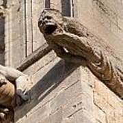 Gargoyles On Ely Cathedral Poster