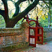 Gate In Brick Wall Poster